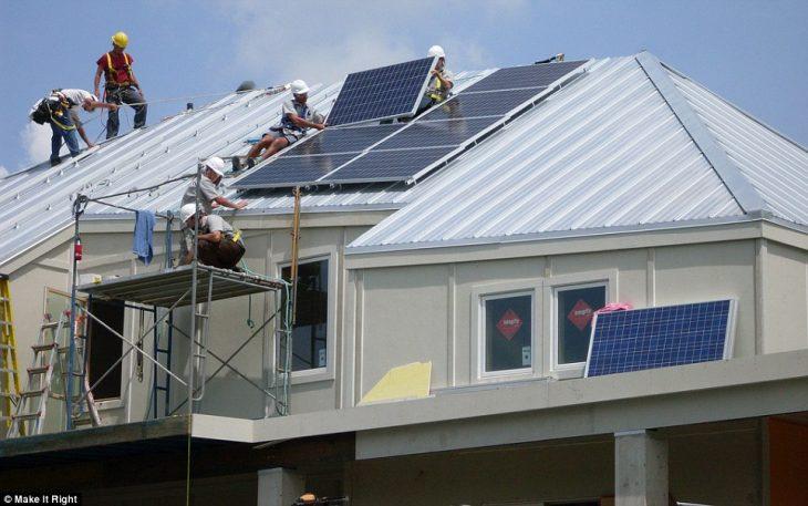casas páneles solares