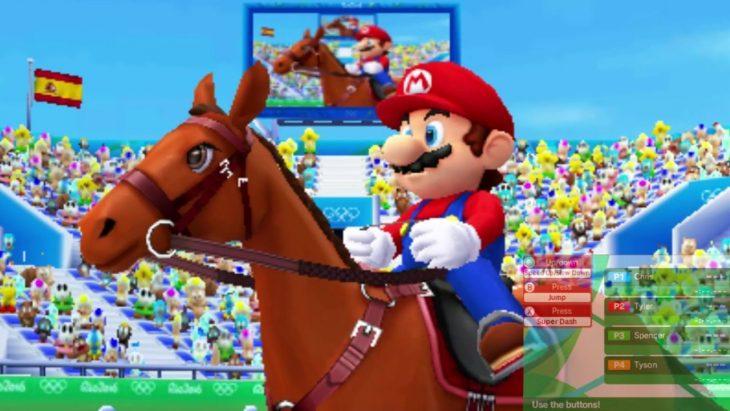 Mario bros a caballo