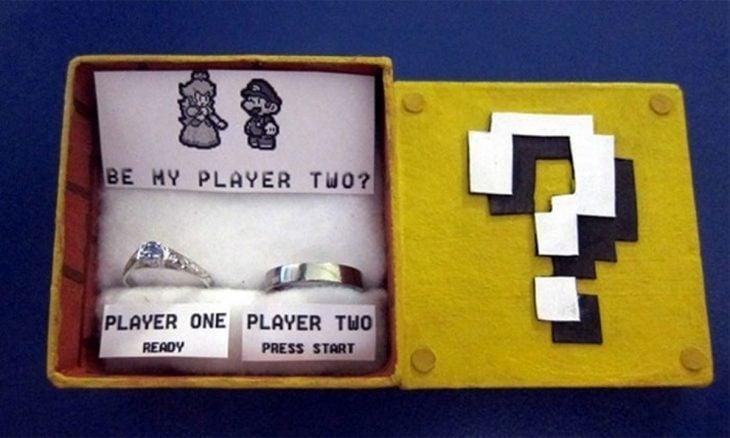 Mario Bross propuesta de matrimonio