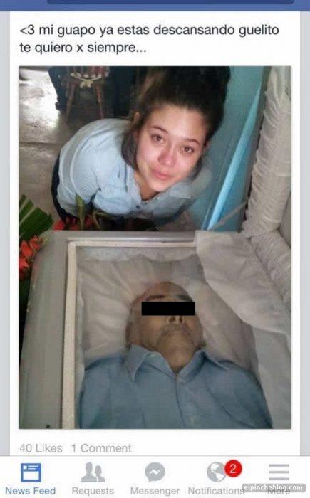 Fotografía con un cadavér