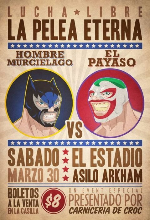 Poster luchas batman vs guason