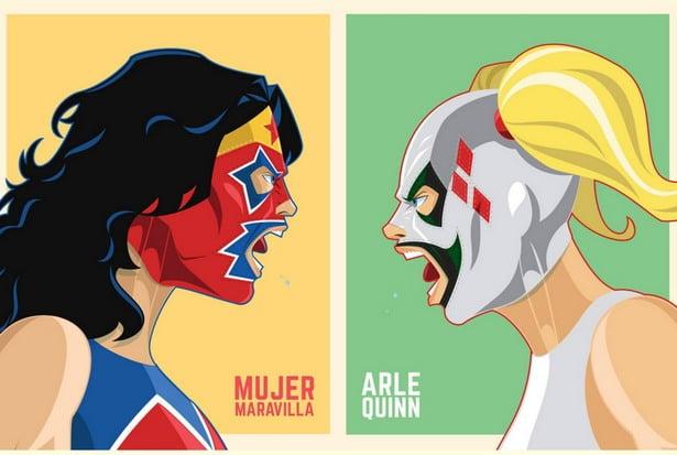 mujer maravilla vs arlequin