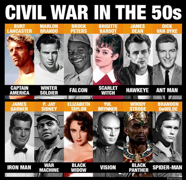 capitan america en los 50s elenco