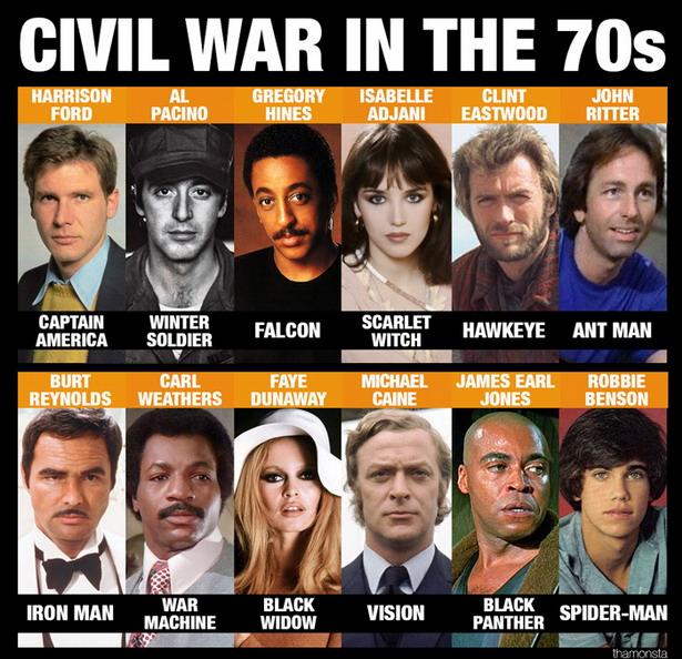 capitan america en los 70s elenco