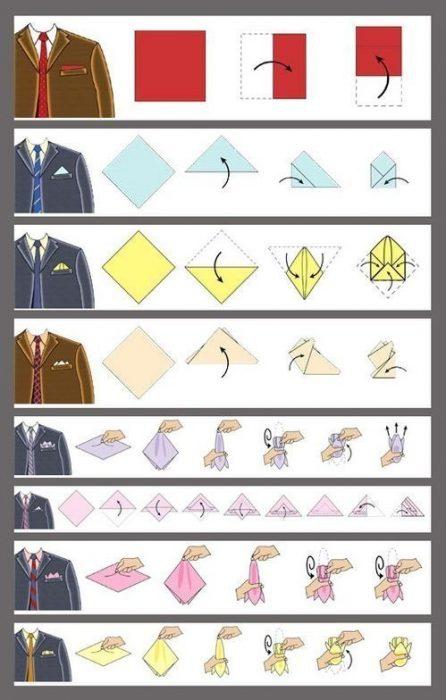 Doblar tu pañuelo correctamente
