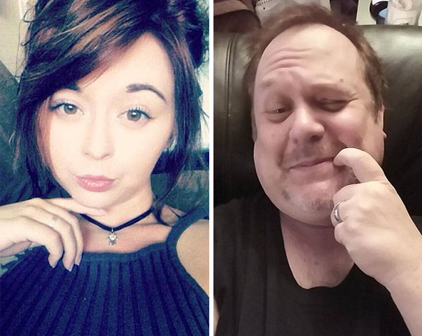 papa trollea a su hija en selfies