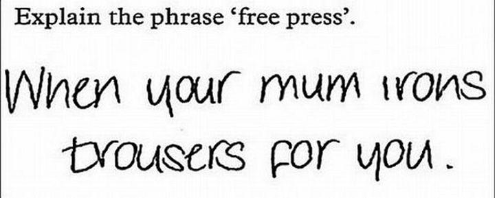 respuestas graciosas de exámenes