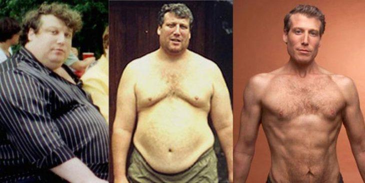 hombre que bajo 99 kg sin dieta