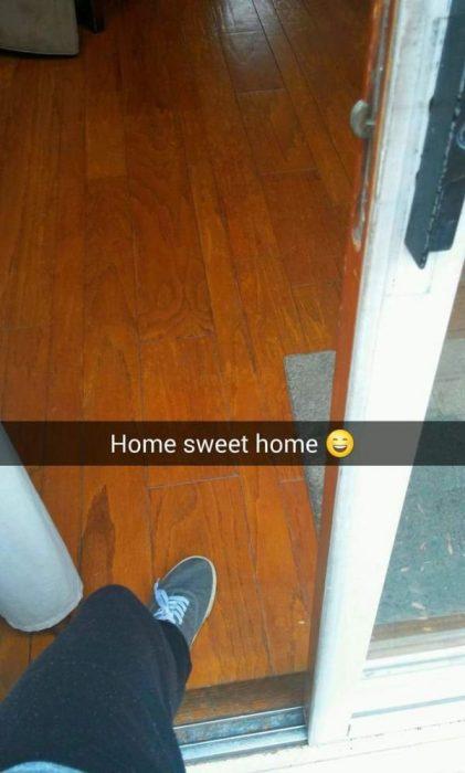 snapchat Hogar, dulce hogar