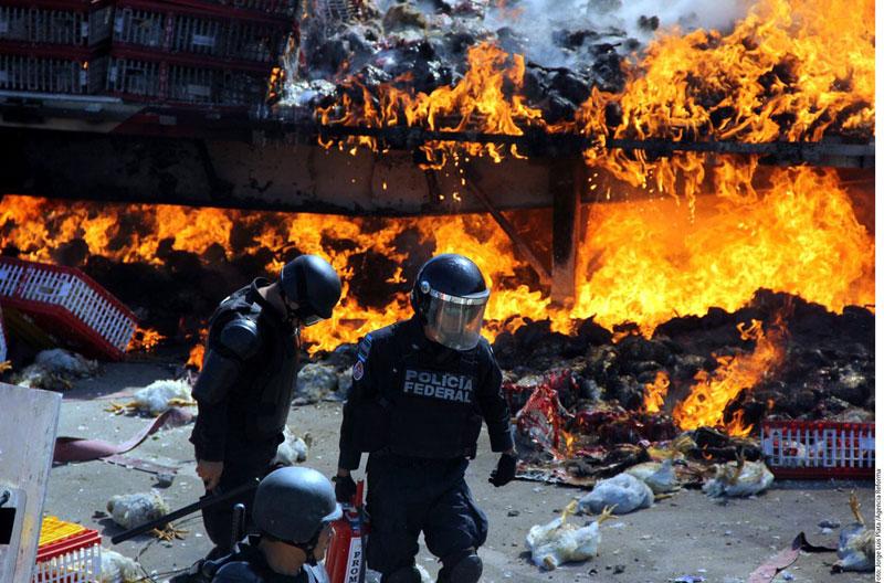 enfrentamiento Oaxaca