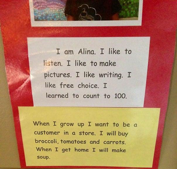 deseo de crecer para comprar verdudas