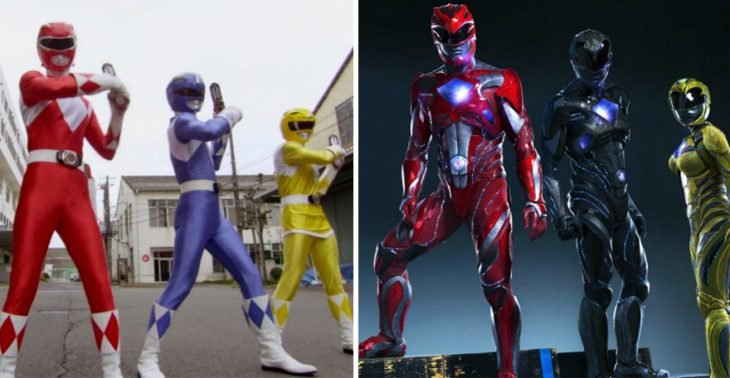power rangers en 1997 y en 2015
