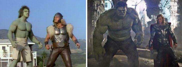 hulk y thor en 1988 y en 2015