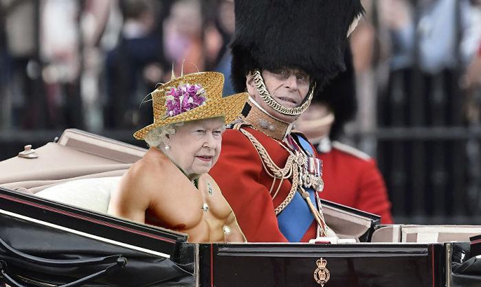 la reina cuerpo de hombre