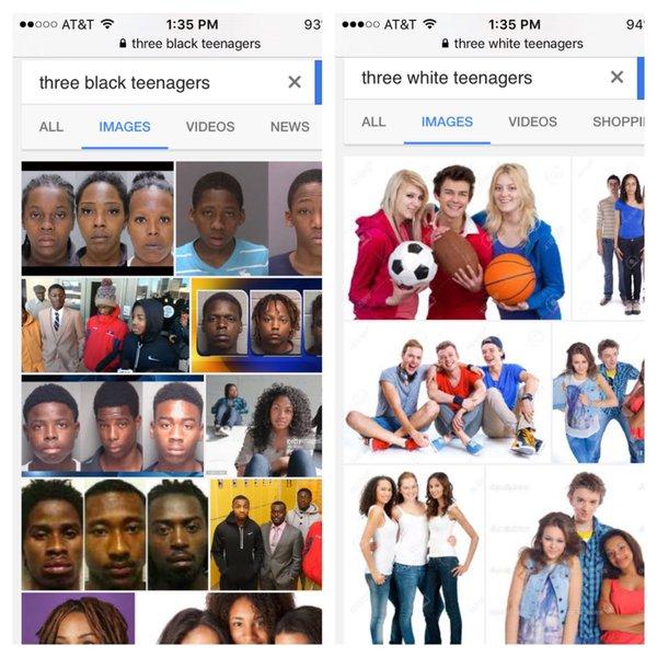 adolescentes negros y blancos google