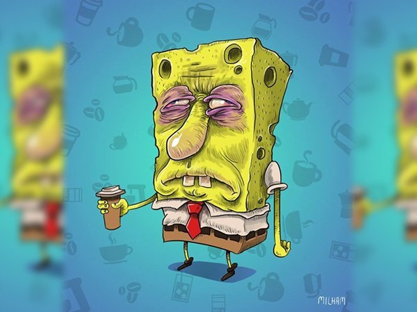 bob esponja sin cafe