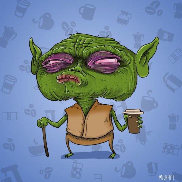 yoda antes del cafe