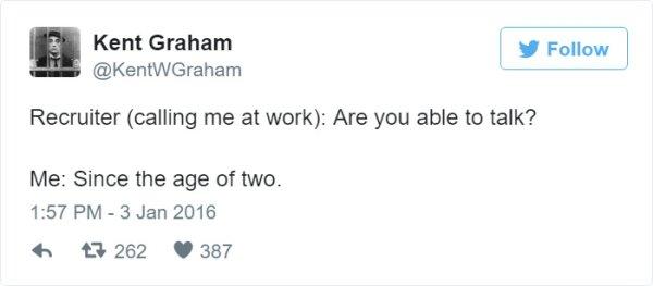 reclutador trabajo tuit