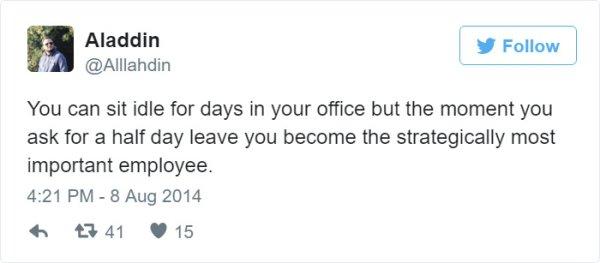 importente empleado tuit trabajo
