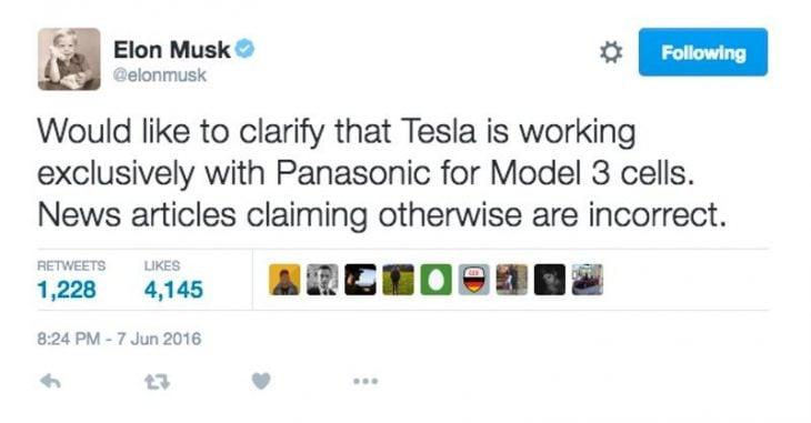 Tesla twitt