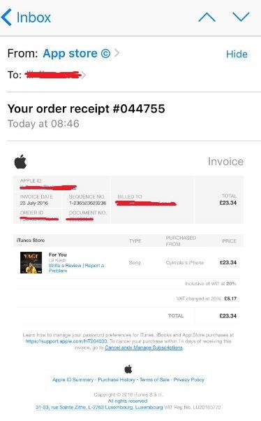 correo falso apple