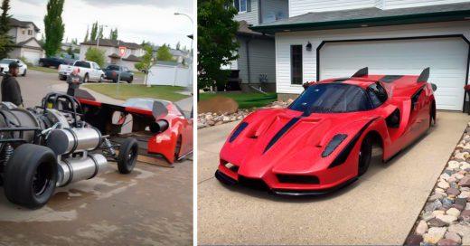 COVER Conoce al Ferrari Enzo con motores de avion que puede alcanzar 650 kph