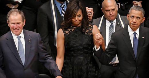 COVER George W Bush aparece en funeral de policias… ¡bailando! a