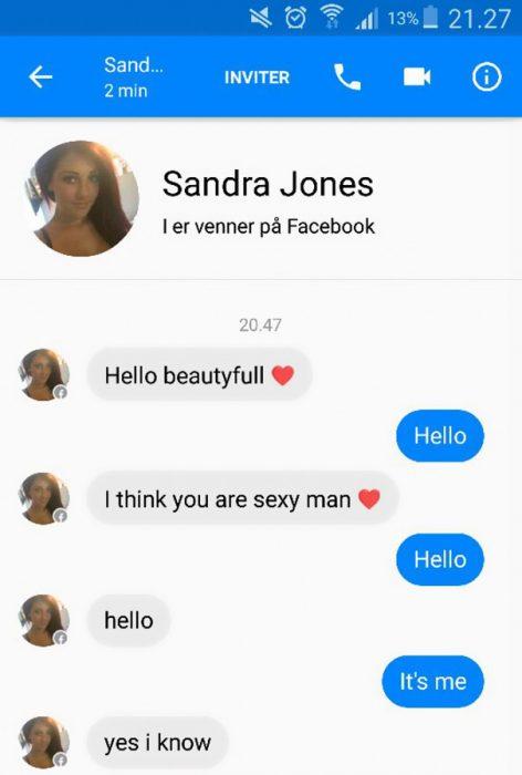 Conversación facebook Adele