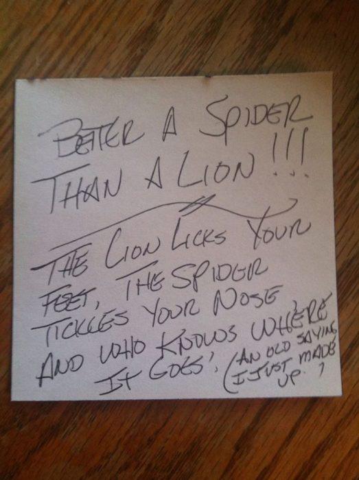 nota araña