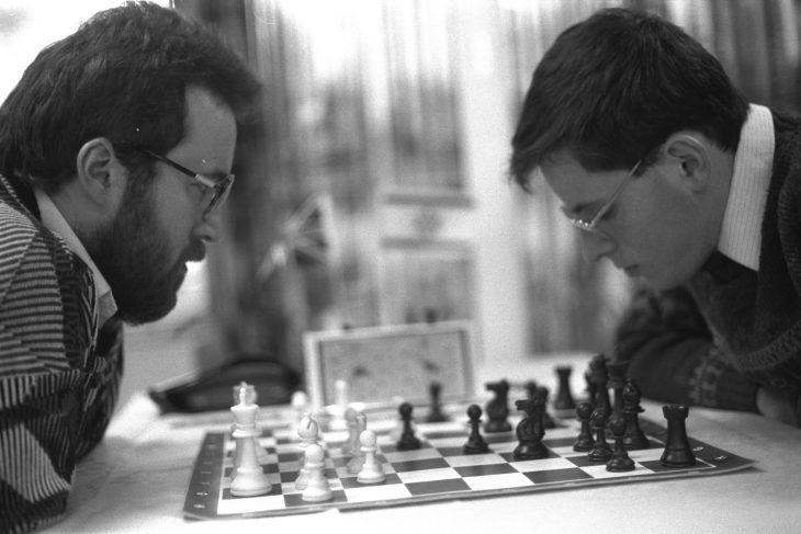 jugadores de ajedrez