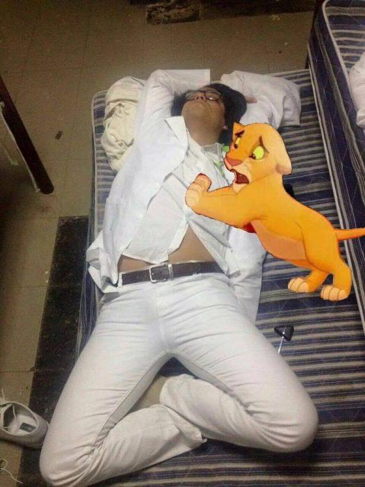 simba doctor se queda dormido