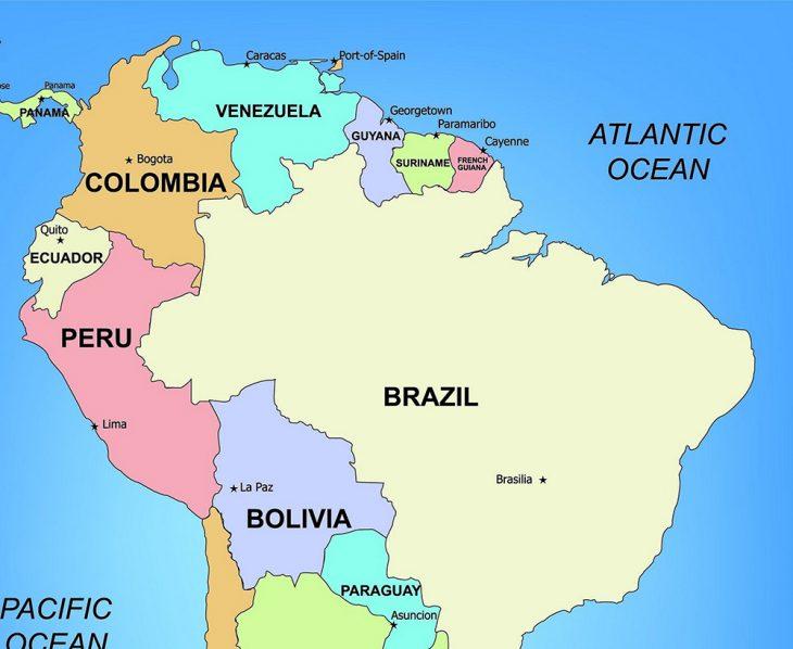 mapa guyana