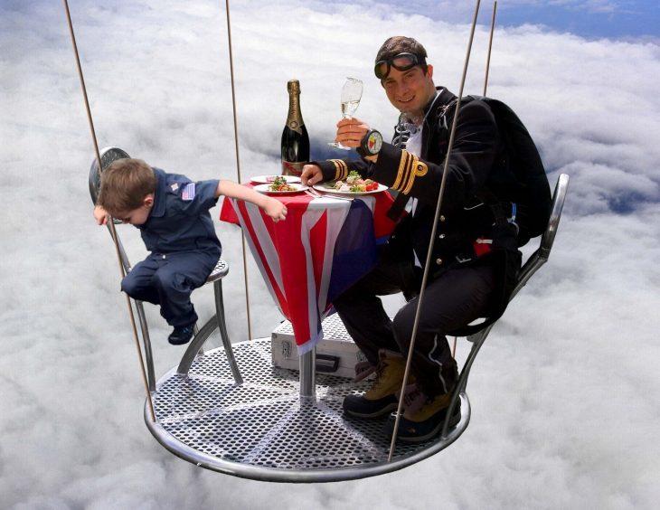 pshb cenando con niño