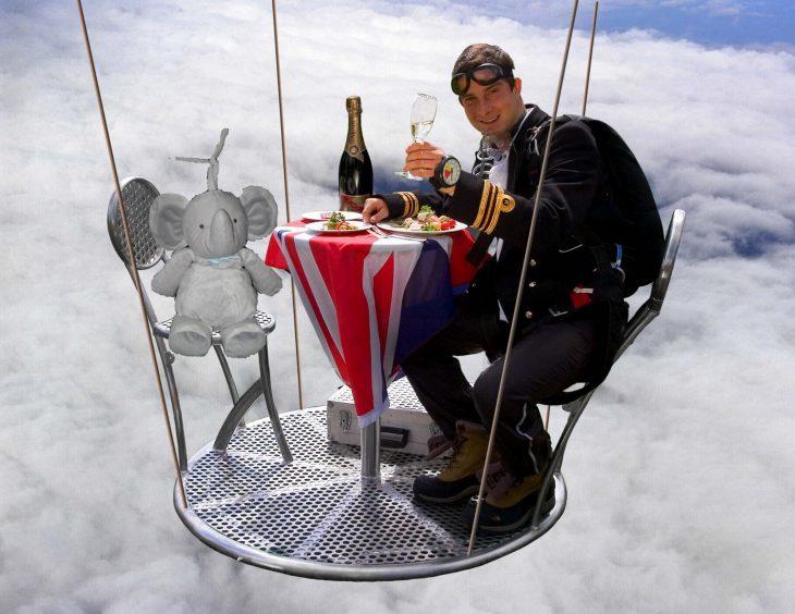 cena con elefantito bear skyll