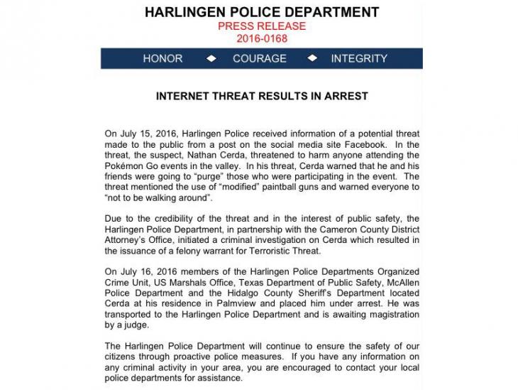 comunicado prensa policia