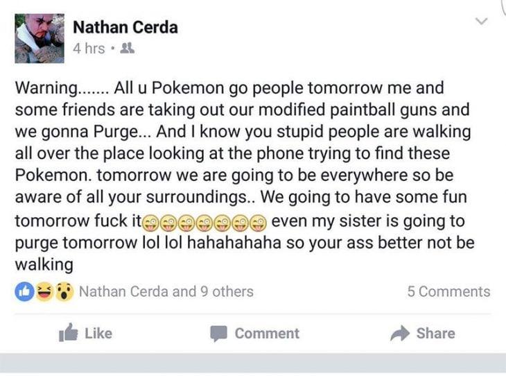amenaza a pokemon go