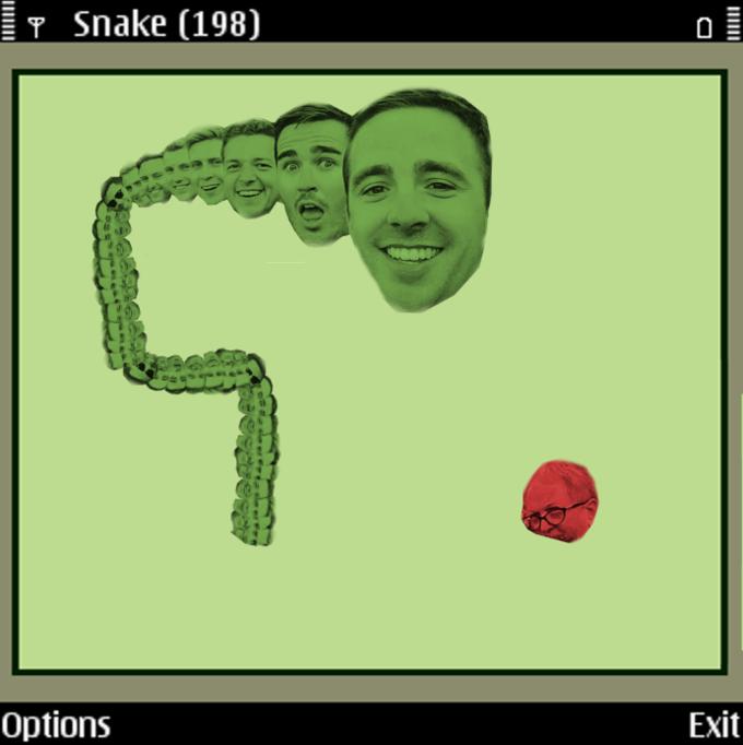 snake selfie
