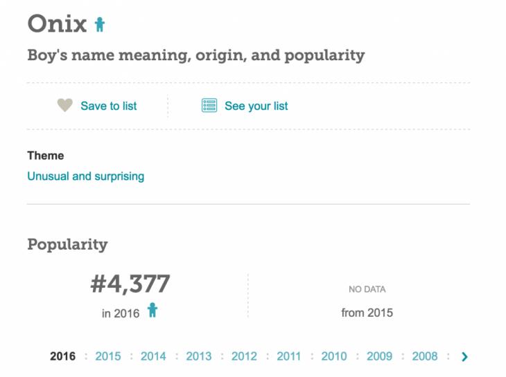 nombres Onix