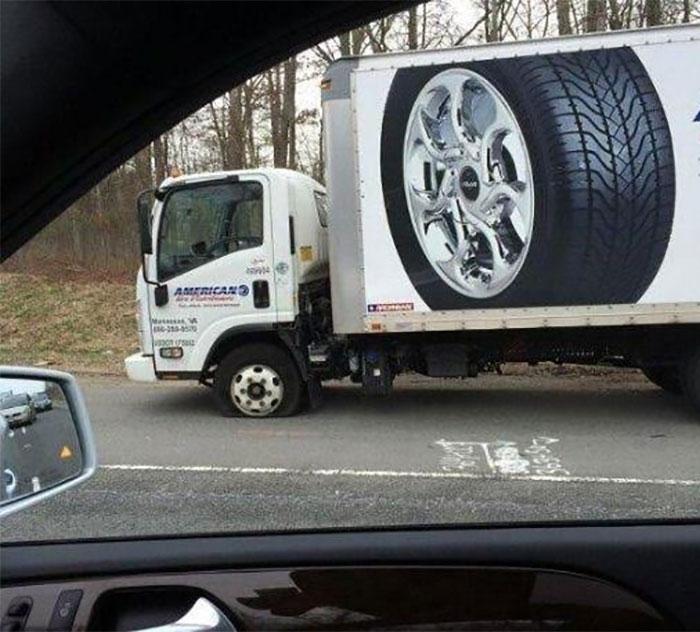 camion ponchado