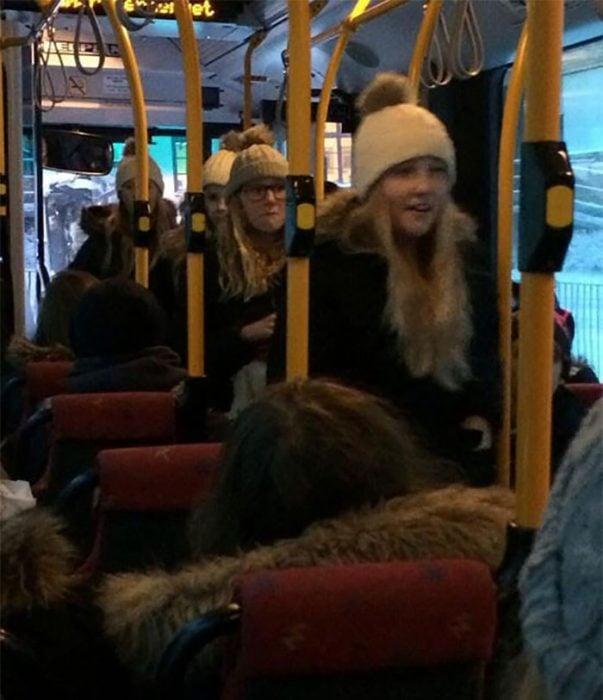 rubias en autobus