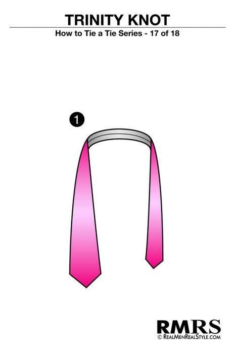 paso 1 corbata trinity