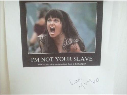 no soy tu esclava nota