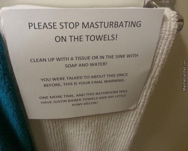advertencia toallas
