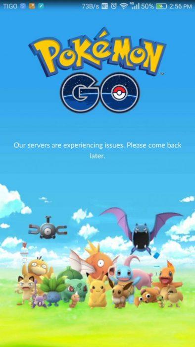 Pokémon Go bloqueado