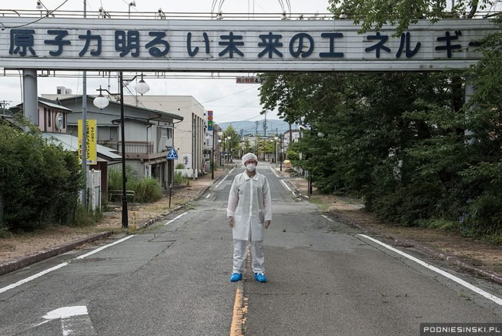letrero fukushima