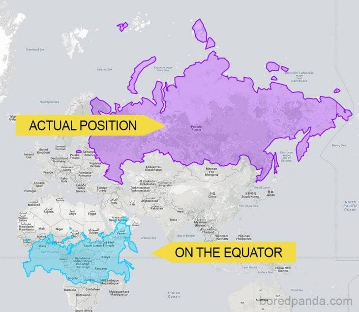 Rusia en el ecuador