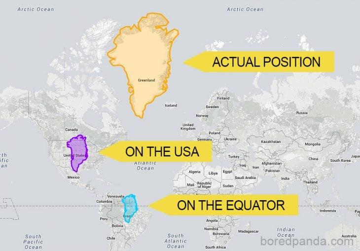 Groenlandia en varias partes