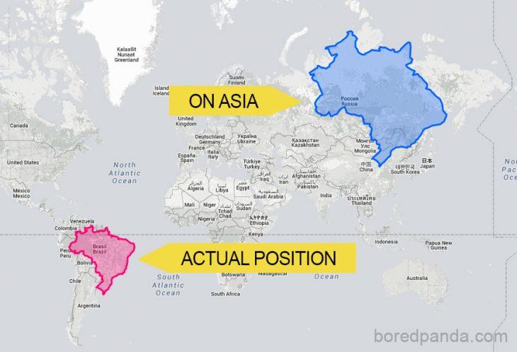 Brasil en otra posicion
