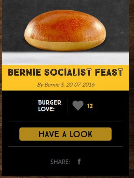 hamburguesa de puro pan