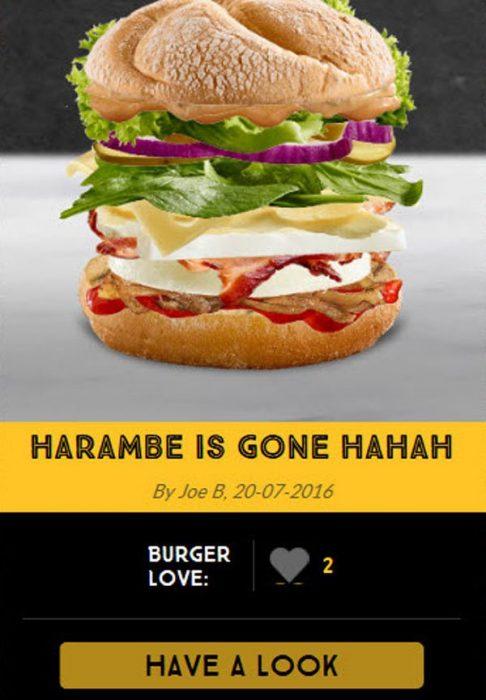 harambe hamburguesa